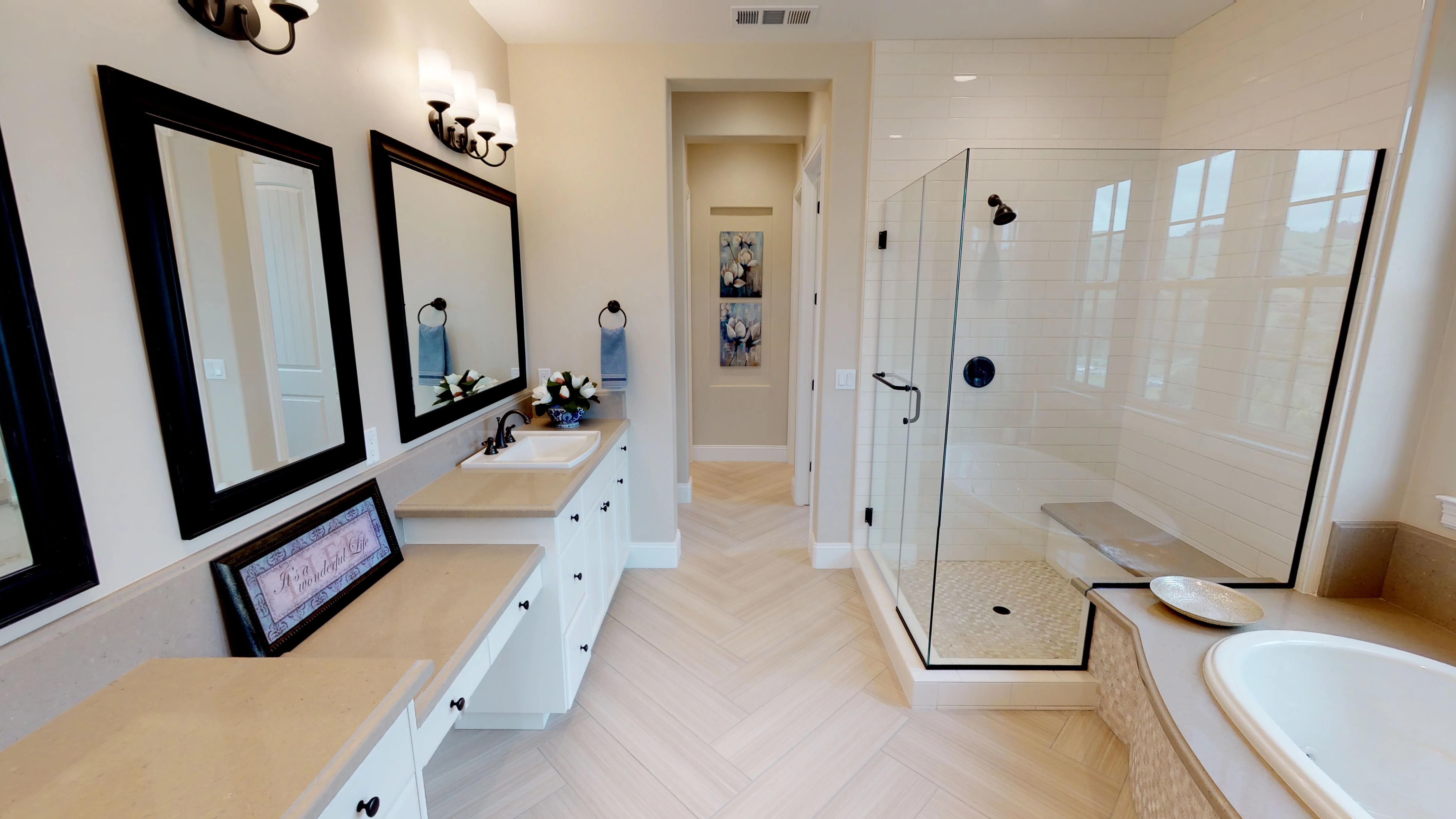 Shower room tiles design   Elite Builder Services