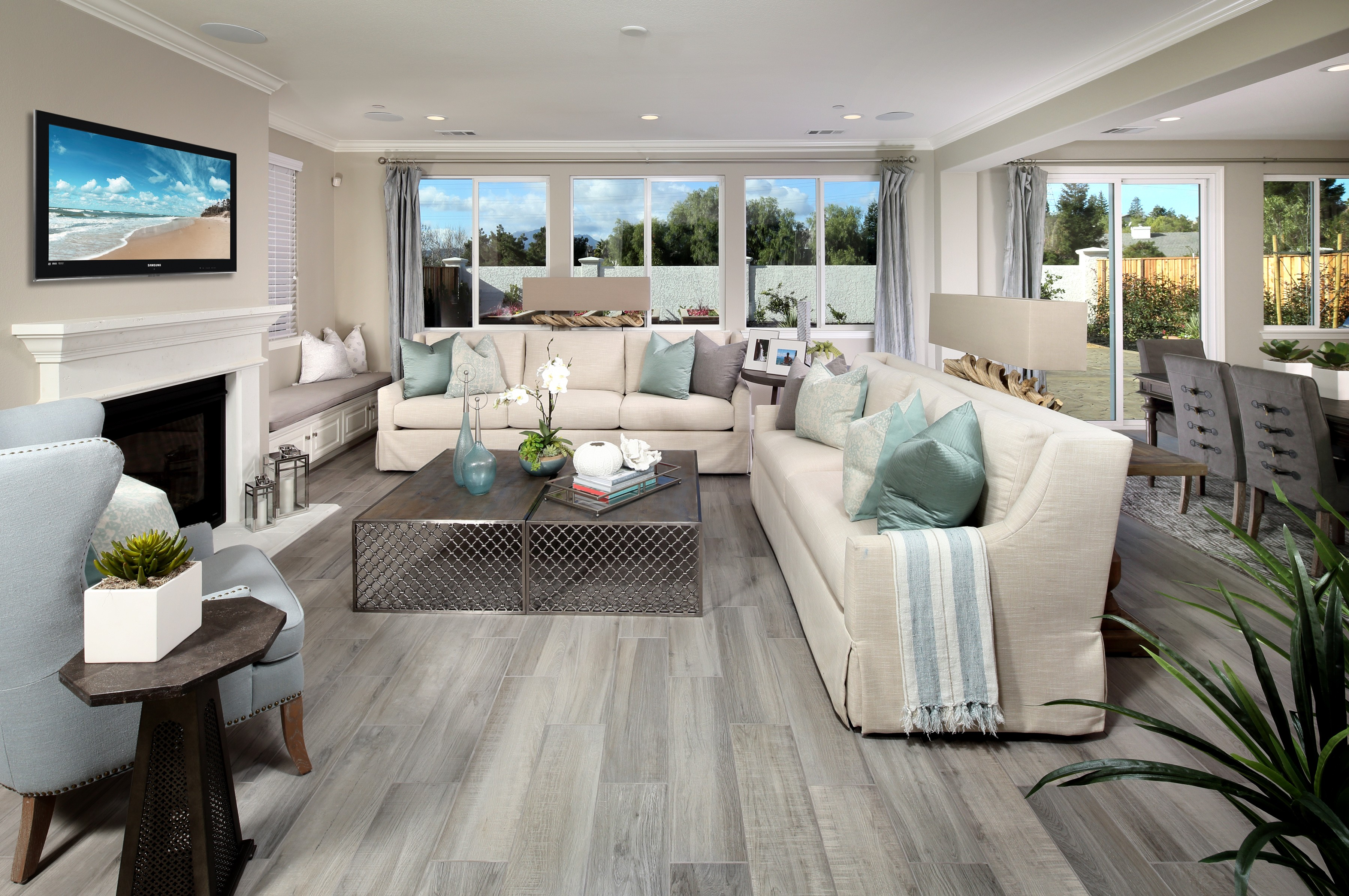 Living room interior   Elite Builder Services