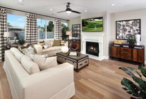 Hardwood flooring for living room   Elite Builder Services