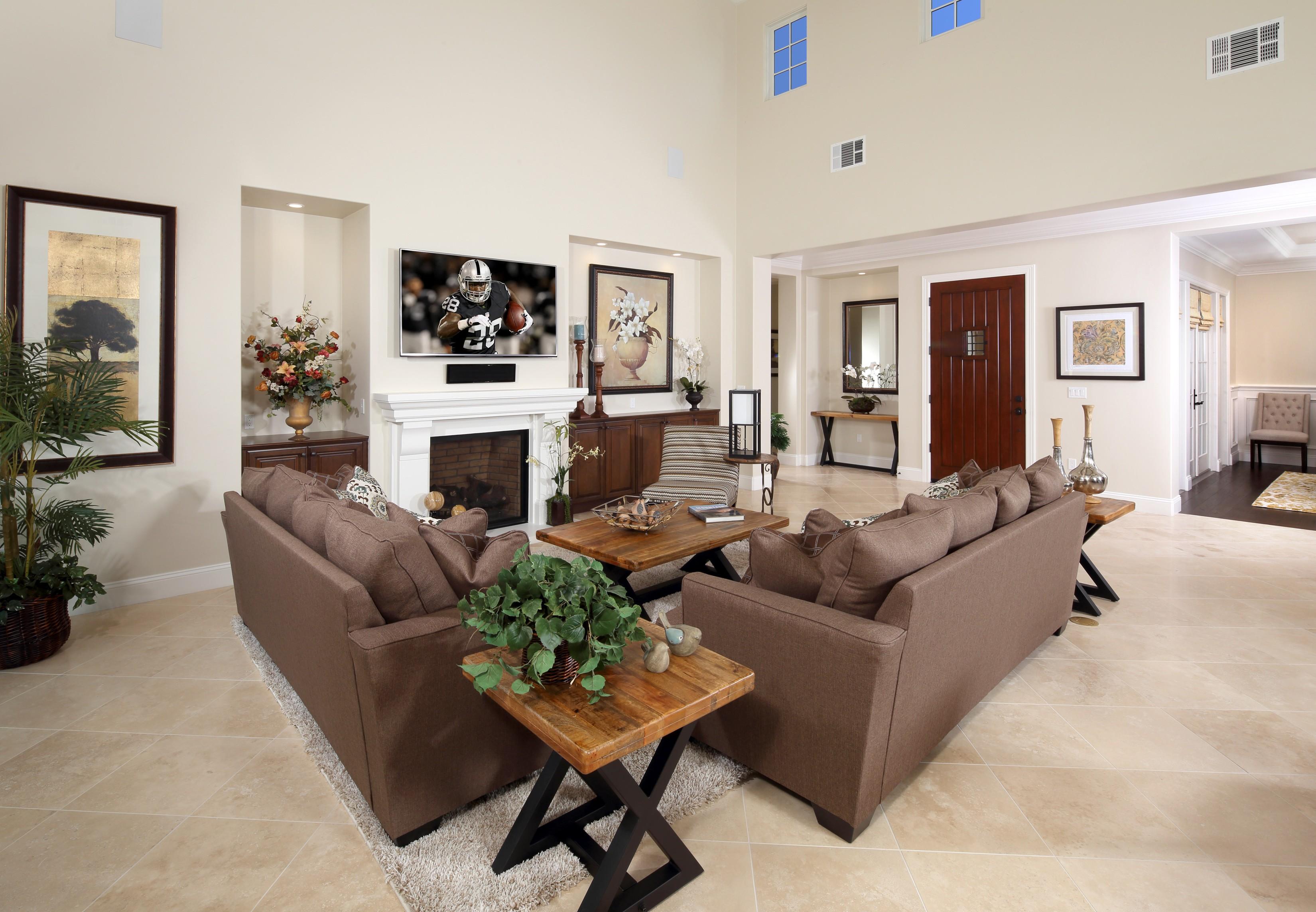 Lavish living room   Elite Builder Services